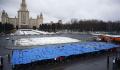 Студенты в Татьянин день развернули 40-метровую зачетку у здания МГУ