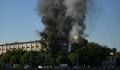 К тушению пожара в районе Лужников привлекли авиацию