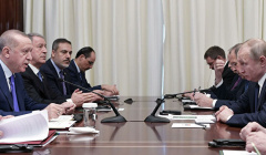 В Кремле выбирают дату для переговоров Путина и Эрдогана в Москве